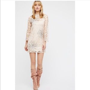 FREE PEOPLE Bell Lace Sequin North Star Dress